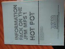 jpm hotpot fruit machine service manual