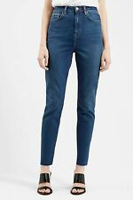 TOPSHOP Binx HIGH WAISTED Current Jeans SIZE W26 L30 UK 6 8 Frayed Hem
