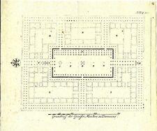 Antique engraving, Grundrisse der Grosen Mosche zu Damascus P XXI