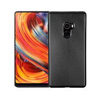 Handy Hülle für Xiaomi Mi Mix 2 Karbondesign Case Schale TPU dünn schwarz Mix2