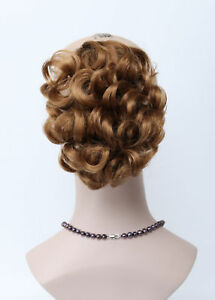 Strawberry Blonde Short Wavy claw clip ponytail Natural Daily Hair Extensions