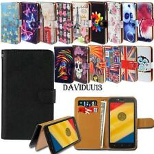 Leather Smart Stand Wallet Case Cover For Various Motorola SmartPhones