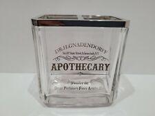 Bella Lux APOTHECARY Glass Dr H Gandendorff Toothbrush Holder Vanity Bathroom