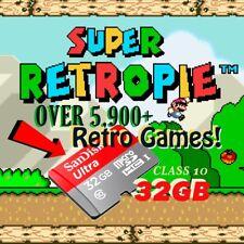 `Raspberry Pi 3 32gb RetroPie 5,900+ Games Micro SD card NES SNES Kodi Emulation