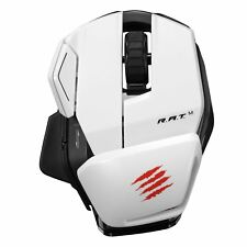 MAD CATZ RAT M Wireless PC MAC & Android Programmable Office Mouse * NEW White