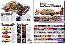 Two 1974 HOLDEN LH TORANA A3 Sized 2 Page Brochures Range & Accessories
