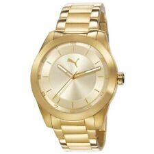 Puma Men's PU103302002 Gold Plated Stainless Steel Analog Quartz Watch