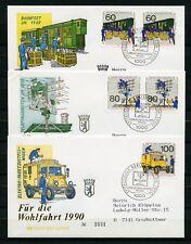 BERLIN Nr.876-878 SCHMUCK-FDC ESST BERLIN 27.9.1990 - WOHLFAHRT (134265)