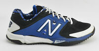 MENS NEW BALANCE BASEBALL TRAINER SHOES SIZE 9 BLACK BLUE WHITE T4040BB2 CLEAT