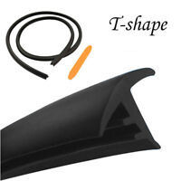 1.6M x 16mm T-shape Car Front Rubber Seal Strip Hollow Windproof Weatherstrip