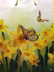 Gift Bag 65648 Daffodils Gifts Bag 23x17, 5x8cm Butterfly Shiny