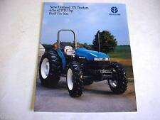 New Holland 42 to 62 PTO HP TN Tractors Color Brochure 8 Pages                b1