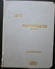 VINTAGE LEITZ PHOTROMETER MODEL M HANDBOOK, 1961 BINDER, CALIBRATION TABLES