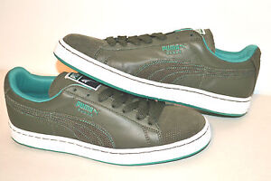 AUTHENTIC PUMA SUEDE CLASSIC + LUX MEN'S SNEAKERS  FOREST NIGHT-GREENLAKE 355774