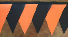 Halloween Fabric Bunting Orange & black Party Bedroom Decoration 2mt childs gift