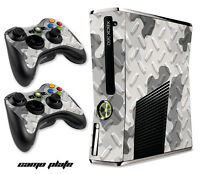 Skin Decal Wrap for Xbox 360 Slim Gaming Console & Controller Xbox360 Slim CAMOW