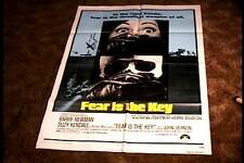 FEAR IS THE KEY ORIG MOVIE POSTER 1973 SUSPENSE EXPLOITATION