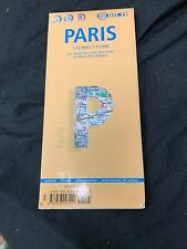 Map of Paris, France, Laminated & Folded by Borch Maps EUC FS Benefits Charity