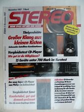 STEREO 11/87,DUAL CT 441 CT,FINE ARTS T 9000,PHILIPS CD 880,AKAI AD 93,TMR 1,