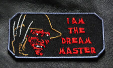 I AM THE DREAM MASTER Freddy Krueger EMBROIDERED  HOOK PATCH