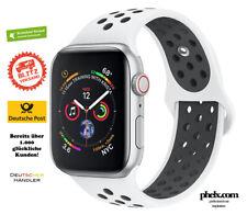 phelx Sport Armband für Apple Watch 42mm & 44mm - Silikon - Weiß / Schwarz