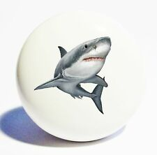 GREAT WHITE SHARK HOME DECOR CERAMIC KNOB DRAWER CABINET PULL