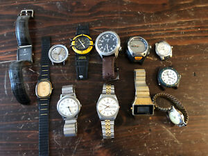 12 Watch Lot For Parts And Repair