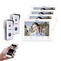 "TMEZON 10"" Wireless Wifi Video Intercom Doorbell Smart IP Door Phone System Lot"