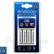 Panasonic Eneloop Basic Charger + 4 AA Rechargeable 1900 mAh batteries BQ-CC51E