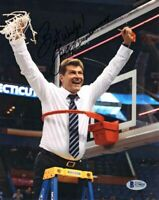 GENO AURIEMMA SIGNED AUTOGRAPHED 8x10 PHOTO UCONN HUSKIES BASKETBALL BECKETT BAS