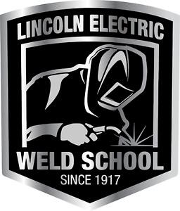 Lincoln Electric Welding School Equipment LOGO Vinyl Sticker Decal Toolbox Truck
