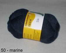Regia Silk Sockenwolle (50 marine Meliert)