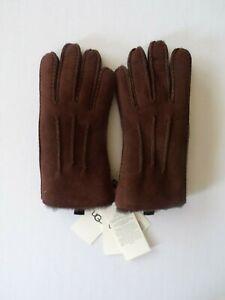 New Ugg Sheepskin 3PT Glove for Men Chocolate Size M - MSRP $155