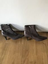 ROCKPORT Brown LEATHER ANKLE BOOTS UK SIZE 4