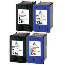 4 x HP 21XL Black & 22XL Colour Ink Cartridge for Deskjet F2180 F2187 F2200