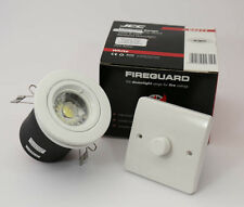 WHITE FIRE RATED  GU10 DOWN LIGHT WITH DIMMABLE  LED 6 WATTBULB £4.99