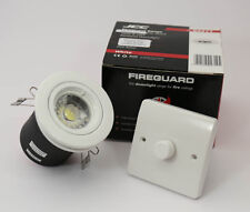 WHITE FIRE RATED  GU10 DOWN LIGHT WITH DIMMABLE  LED 6.3 WATTBULB £5.35