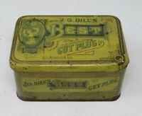 Antique Tobacco Tin J. G. Dill's Cut Plug Richmond Virginia Union Stamp 1 Pound