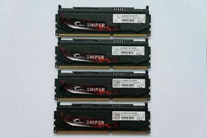 16GB G.SKILL Sniper Series DDR3 Memory 2400MHz CL11 PC3-19200 F3-2400C11Q-16GSR