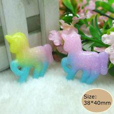 20pcs Kawaii unicorn  Flatback Resin Cabochon crafts for  diy decoration