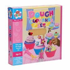CHILDRENS KIDS CREATIVE MAKE YOUR OWN PLAY DOUGH CUP CAKE SET MODELLING DOH TOY