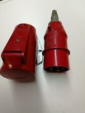32A CEE Stecker und Wanddose IP44 5-polig schwarz 32 A Set 5p PCE 025-6x 125-6x