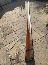 More details for large vintage wooden oar 11ft