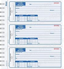 Wire Bound Custom Printed  Cash Receipt Books