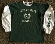 COLORADO STATE RAMS  LONG SLEEVE TEE - JERSEY BY THIRD ST.  YOUTH LARGE  14 / 16