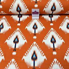 "100% Cotton Canvas Orange Slub Spirit Printed Craft Fabric 58"" Wide Mk856-2"