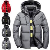 Fashion Men Winter Comfort Short Down Jacket Warm Thicken Hooded Outwear Coat