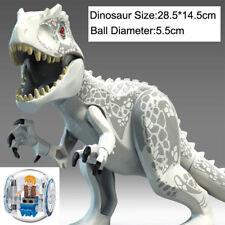 Jurassic World 2 Fallen-Kingdom white Indominus Rex Dinosaurs Tyrannosaurus LEGO