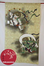 NOREN RAIJIN FUJIN GODS TRADITIONAL KYOTO GARDIN TENDA JAPANSKE MADE IN JAPAN