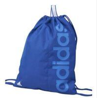 Adidas Gym Bag Linear Blue 2 drawstring Backpack Rucksack Navy Sports Gym School